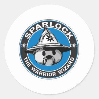 Sparlock the Warrior Wizard Classic Round Sticker