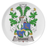Sparre Family Crest Party Plate