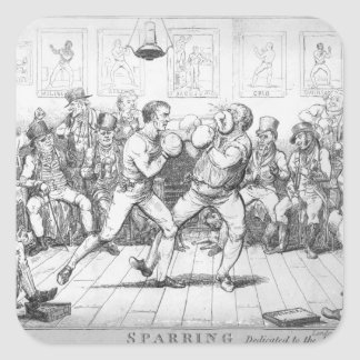 Sparring, 1817 square sticker