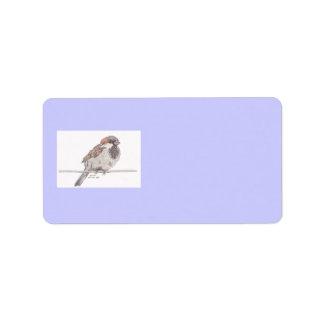 Sparrow Address Labels