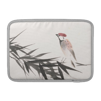 Sparrow and Bamboo Leaves MacBook Air Sleeves