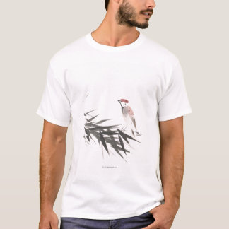 Sparrow and Bamboo Leaves T-Shirt