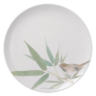 Sparrow and Bamboo Party Plates