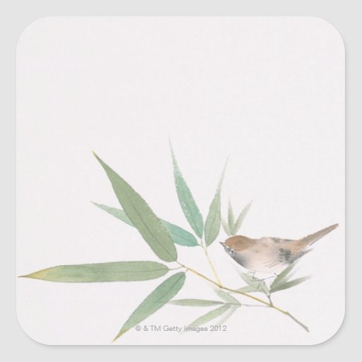 Sparrow and Bamboo Stickers