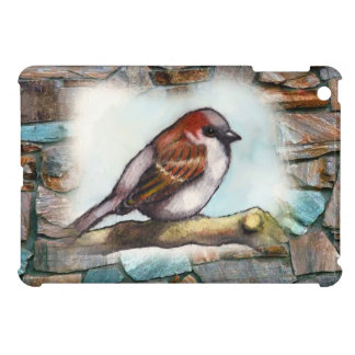 Sparrow: Bird, Watercolor, Stones, Rocks Cover For The iPad Mini