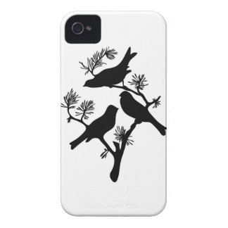 Sparrow birds branch silhouette iPhone 4S case