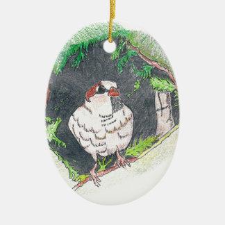 Sparrow Ceramic Ornament