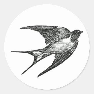 sparrow classic round sticker