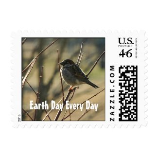 Sparrow Earth Day Postage stamp