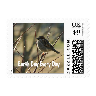 Sparrow Earth Day Postage