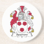 Sparrow Family Crest Drink Coasters
