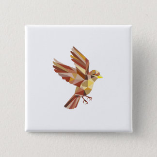 Sparrow Flying Low Polygon Button
