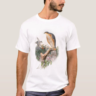 Sparrow Hawk John Gould Birds of Great Britain T-Shirt