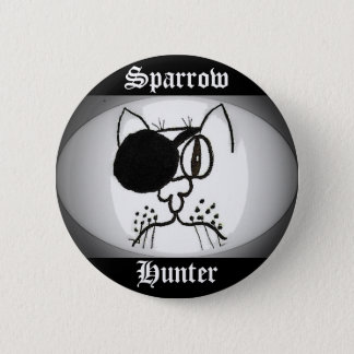 Sparrow Hunter Pirate Kitty Button