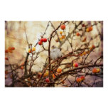 Sparrow in a Crab Apple Tree Print
