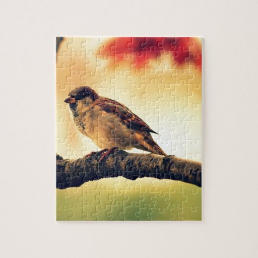Sparrow in a tree jigsaw puzzles