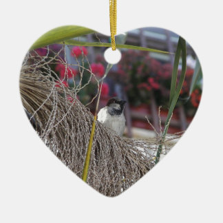 Sparrow in southern Spain Ceramic Ornament