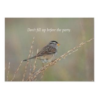 Sparrow in the Grass 2 Invitation