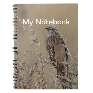 Sparrow in the Grass 2 Notebook