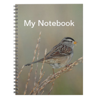Sparrow in the Grass Notebook
