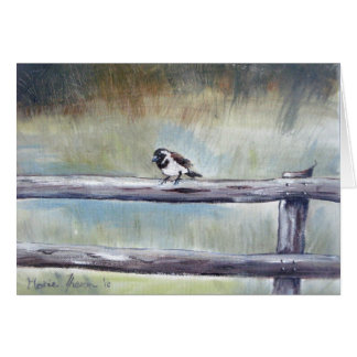 Sparrow in the Mist Greeting Card