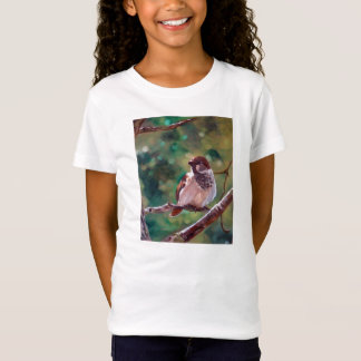 """""""Sparrow in Trees"""" - Girl T-shirt"""