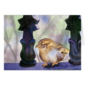 Sparrow in Waiting Note Card