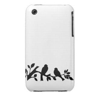 Sparrow love birds silhouette bird lovebird iPhone 3 covers