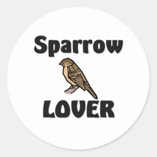 Sparrow Lover Classic Round Sticker