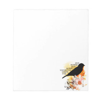 Sparrow Not Forgotten Note Pad