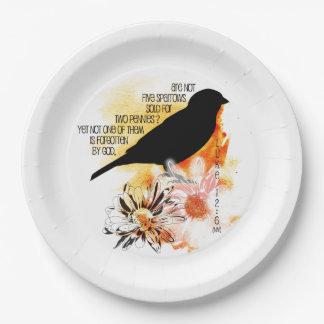 Sparrow Not Forgotten Paper Plates