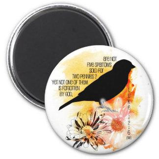 Sparrow Not Forgotten Round Magnet
