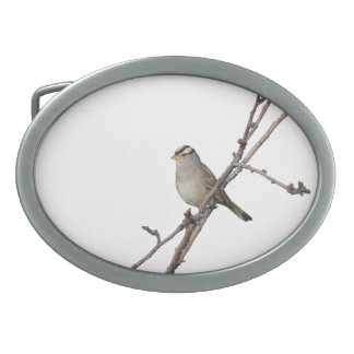 Sparrow on a Branch Belt Buckle