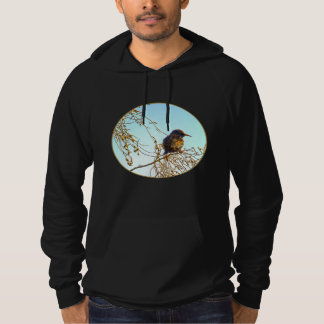 Sparrow on a Winter Branch Hoodie