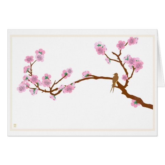 Sparrow on Tree - Greeting Card