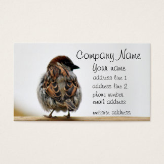 Sparrow photo business card