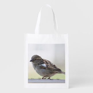 Sparrow photo grocery bag