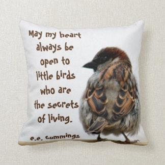 Sparrow photography pillow