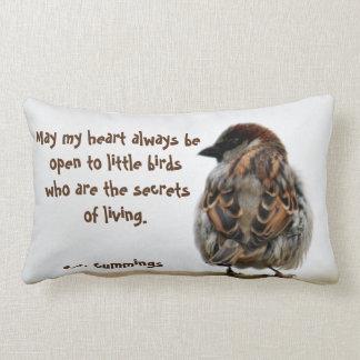 Sparrow photography pillows