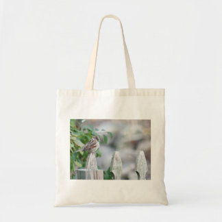 Sparrow photography tote bag