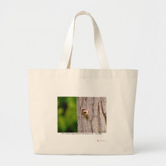 Sparrow Photography W/Truth Quote On Gifts & Tees Large Tote Bag