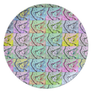 Sparrow Pop Art Plate