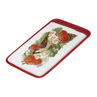 Sparrow & Red Strawberries - Vintage Illustration MacBook Air Sleeves