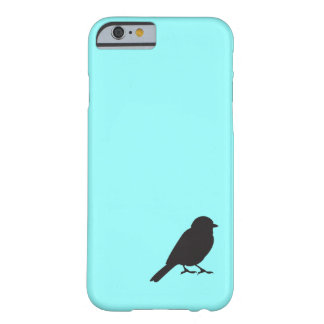 Sparrow silhouette chic blue swallow bird barely there iPhone 6 case