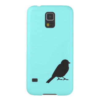 Sparrow silhouette chic blue swallow bird case for galaxy s5