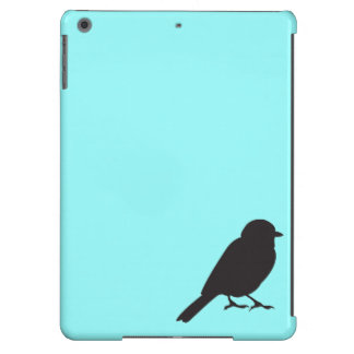 Sparrow silhouette chic blue swallow bird iPad air covers