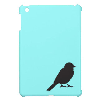 Sparrow silhouette chic blue swallow bird iPad mini cover