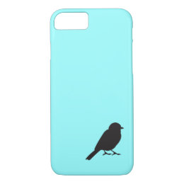 Sparrow silhouette chic blue swallow bird iPhone 8/7 case
