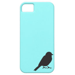 Sparrow silhouette chic blue swallow bird iPhone SE/5/5s case