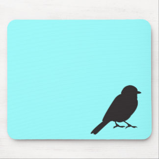 Sparrow silhouette chic blue swallow bird mouse pad